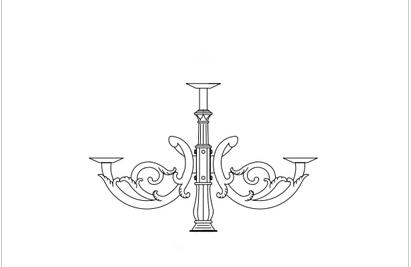 Cột đèn sân vườn DC06 đế gang thân nhôm lắp tay chùm CH04 – 5 bóng