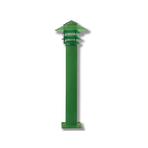 Đèn nấm bách tán sân vườn xanh lá mang đến cảm giác gần gũi thiên nhiên