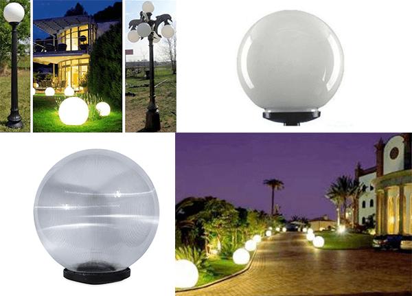 Bạn có thể lắp nhiều loại bóng với công suất đa dạng cho cột đèn DC20-9