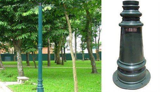 Chất liệu cột đèn chắc chắn, độ bền vững cao