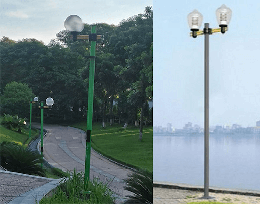 Cột đèn Arlequin rất được ưa chuộng hiện nay cho các khu vực ngoài trời