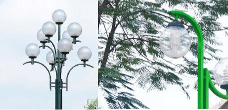 Cột đèn DC20 được ứng dụng rộng rãi trong chiếu sáng các khu công cộng
