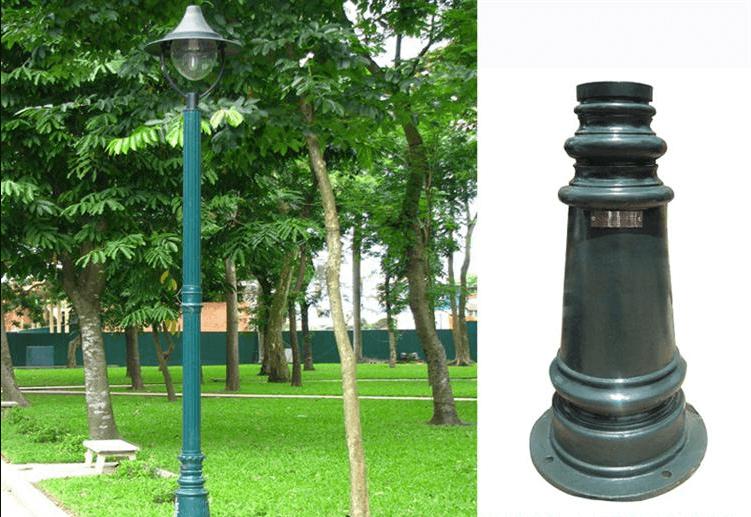 Cột đèn PINE có chất liệu cao cấp, chắc chắn