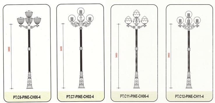 Cột đèn PINE có thể ứng dụng rộng rãi, đáp ứng nhiều nhu cầu của khách hàng