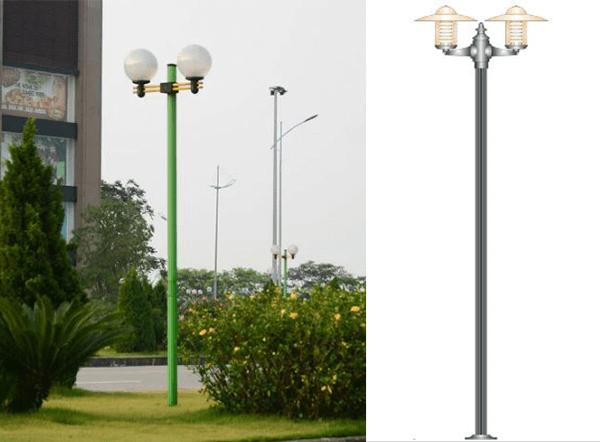 Cột đèn sân vườn tăng tính thẩm mỹ cho không gian sân vườn