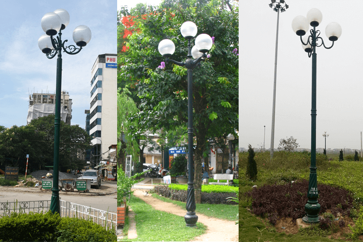 Cột đèn sân vườn vừa đảm bảo tính thiết thực vừa đảm bảo tính thẩm mỹ
