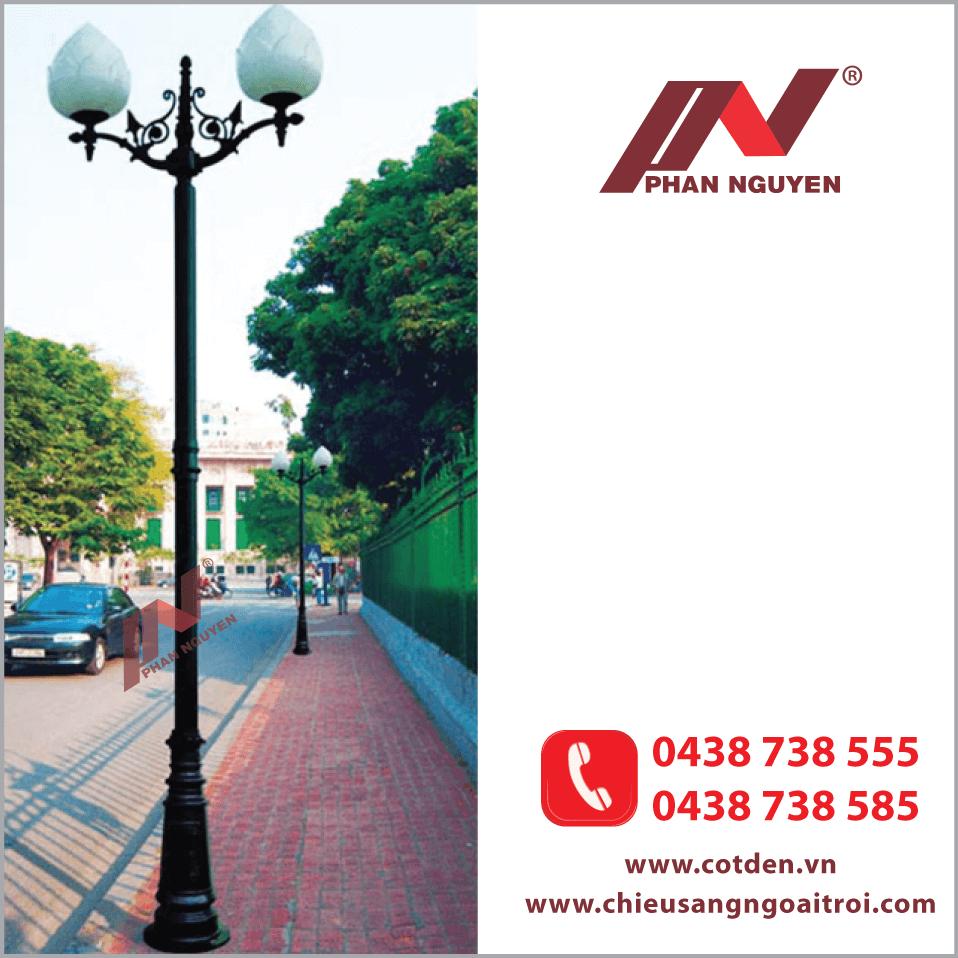 Cột đèn trang trí sân vườn PINE được dùng để trang trí tại vỉa hè, đường phố, khuôn viên cây xanh, công viên, khu vui chơi giải trí