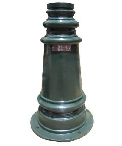 Để cột đèn PINE được làm từ chất liệu gang chắc chắn.