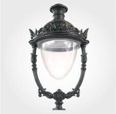Đèn nữ hoàng đứng thường được lựa chọn kết hợp cùng cột đèn sân vườn Arlequin