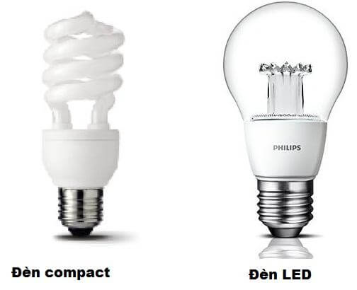 Khả năng chiếu sáng của bóng đèn compact, đèn led rất tốt