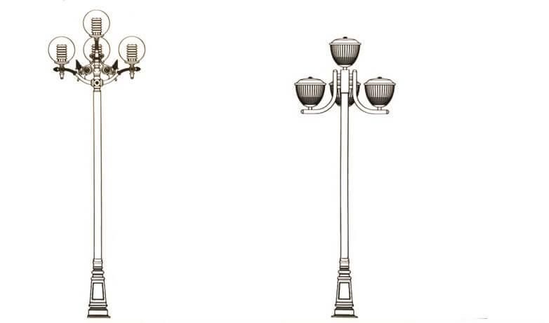 Mẫu cột đèn PINE đẹp, chất lượng cho không gian sân vườn
