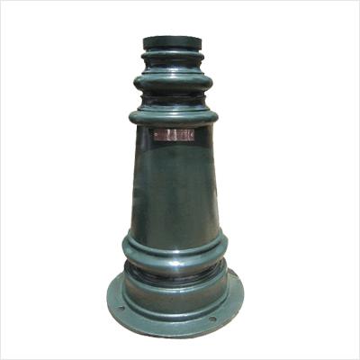 Phần đế cột đèn PINE làm từ gang đúc vừa bền vừa chắc