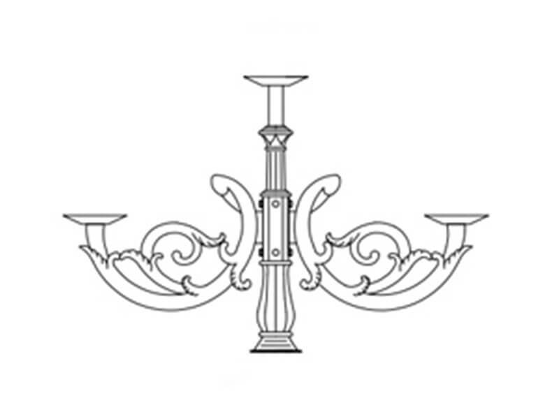 Tay chùm CH02 với thiết kế đơn giản mang hơi hướng phong cách cổ điển phương Tây chắc chắn là một lựa chọn hoàn hảo