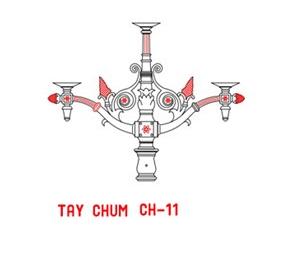 Tay chùm CH11 - 5 bóng soi sáng mọi không gian