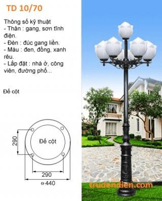 Thiết kế cột đèn bằng thép phủ lớp sơn tĩnh điện chống oxy hóa
