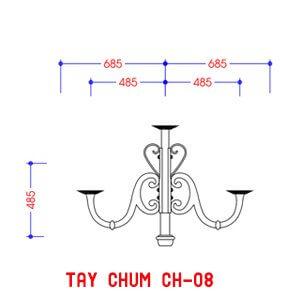 Thiết kế tay chùm CH08 có khả năng chiếu sáng rộng