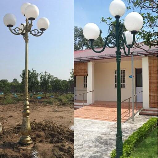 Ưu điểm vượt trội của đèn sân vườn DC bằng thép 7 bóng mang lại cho người dùng