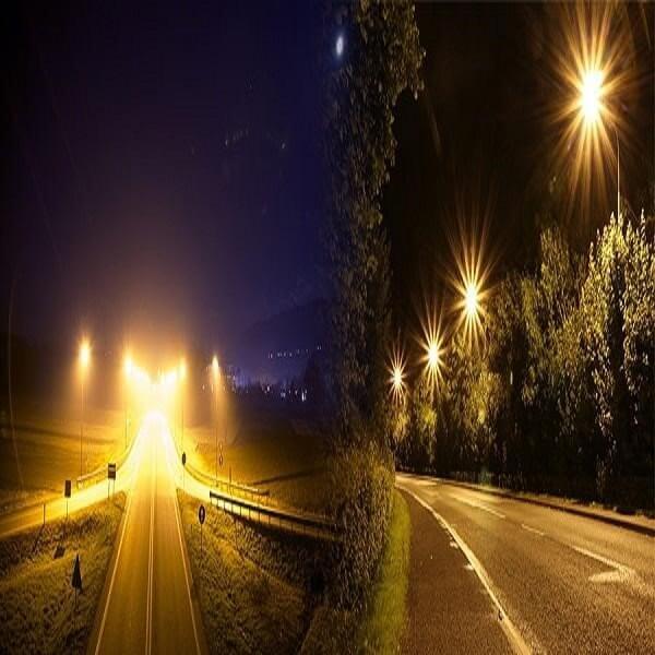 Đèn đường led ánh sáng vàng được sử dụng rộng rãi