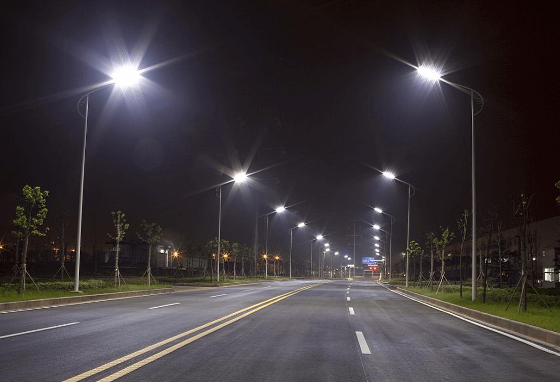 Đèn đường led có khả năng chiếu sáng rộng mà không gây chói lóa