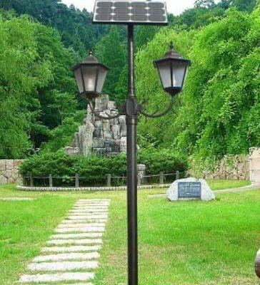Cột đèn sân vườn năng lượng mặt trời PN01