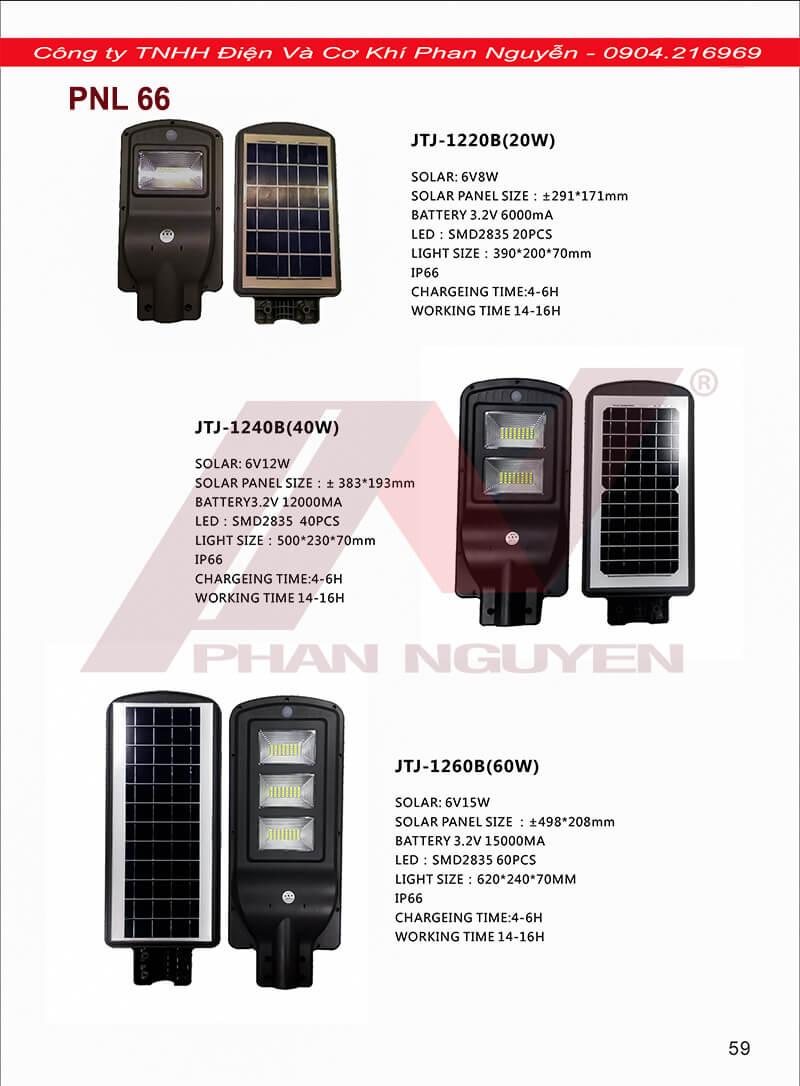 giá đèn đường led năng lượng mặt trời các loại
