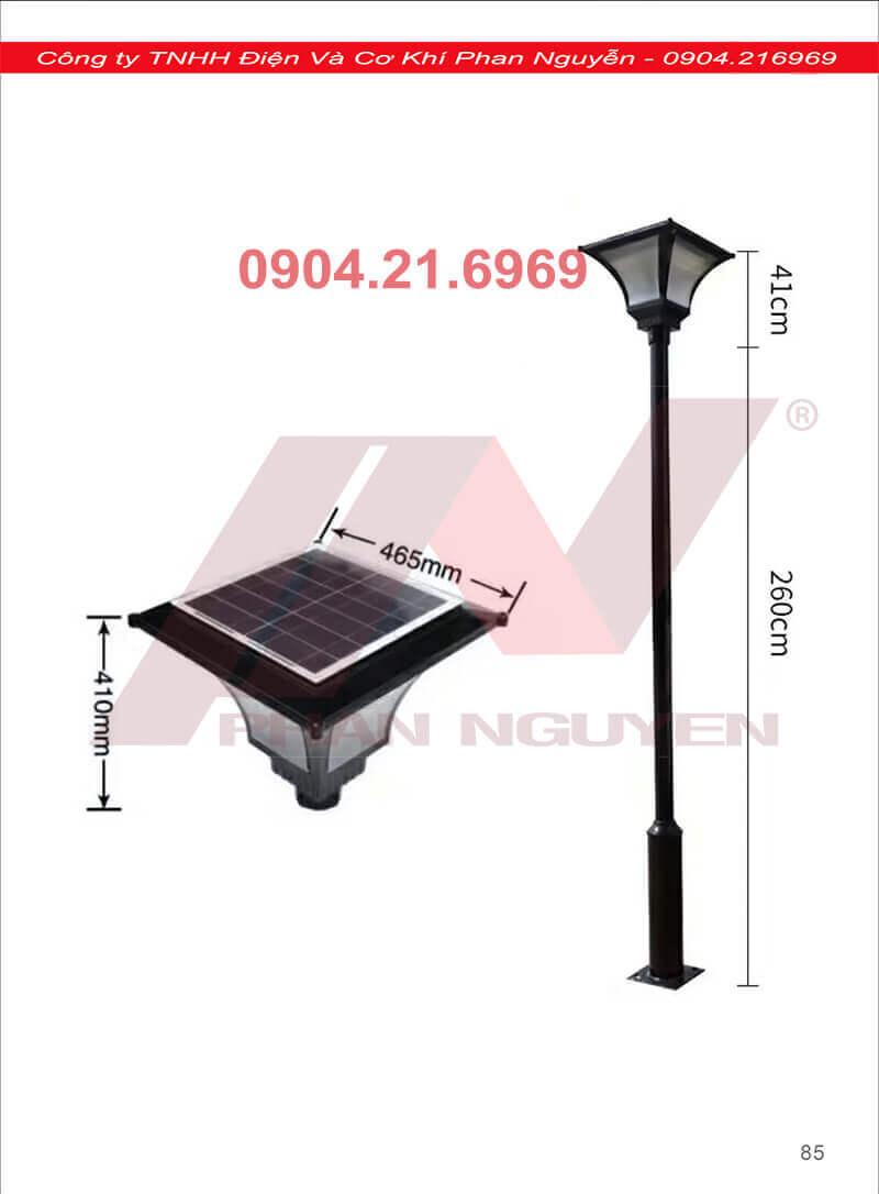 dùng loại đèn năng lượng mặt trời nào lắp cột đèn sân vườn