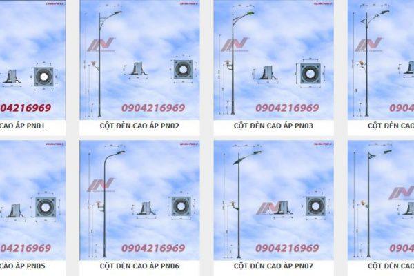 Cột đèn chiếu sáng 12m - Cột thép cao áp đường phố