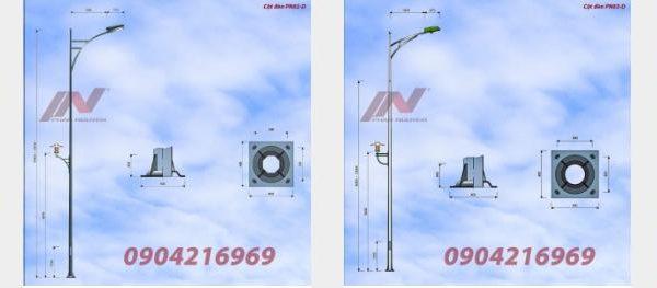 Cột đèn chiếu sáng 9m - Cột đèn chiếu sáng công cộng hiện đại