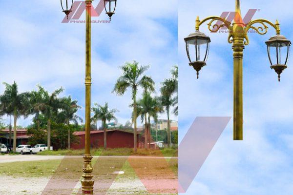 Dùng đèn cột hay đèn hắt cây để trang trí sân vườn
