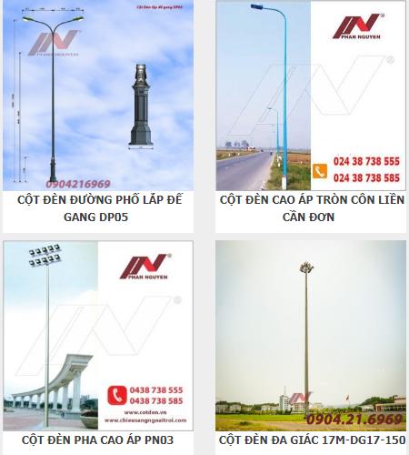 Cột đèn Phan Nguyễn chất lượng, giá tốt