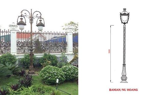 Những mẫu đèn sân vườn trang trí biệt thự phong cách cổ điển