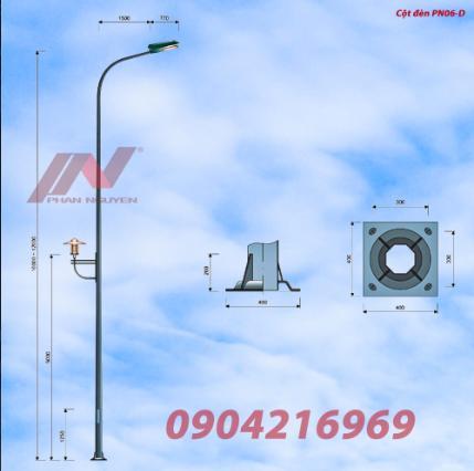 Cột đèn chiếu sáng liền cần - Cột đèn đường Phan Nguyễn