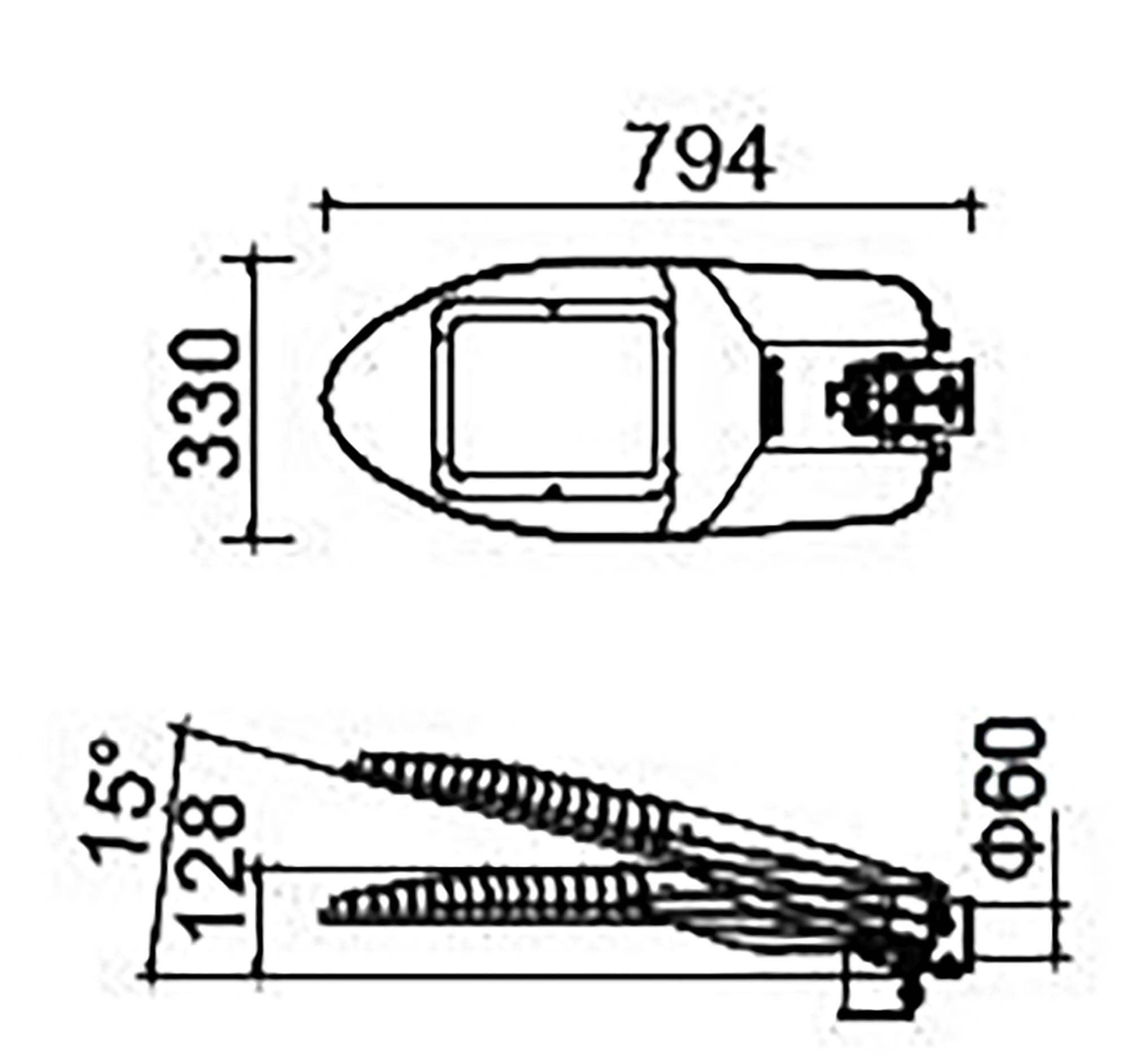 thông số kích thước đèn led e-kona