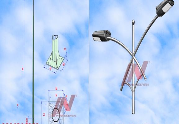 Cột đèn chiếu sáng rời cần - Cột đèn đường phố thông minh